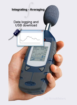 data logging integrating sound level meter